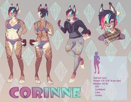 Corinne ref sheet comish by HoofFingers