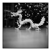 2016-042 Christmas dragon by pearwood