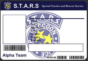 S.T.A.R.S ID Card Template by J-J-Joker