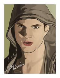 Ashton Kutcher - Portrait by afrodytta