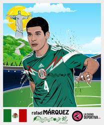 Stickers Brazil 2014: Rafa Marquez - MEXICO by afrodytta