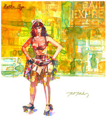 Bettie Page by markmchaley