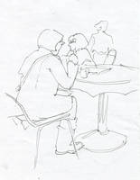 cafeteria sketching by soiseiseke