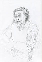 Grandmother`s portrait by soiseiseke