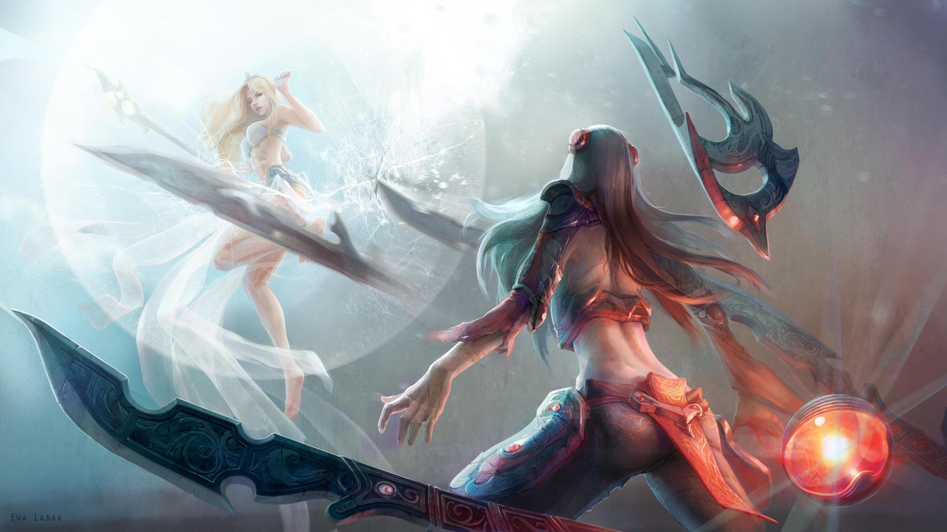 League of Legends - Irelia vs. Janna by EwaLabak