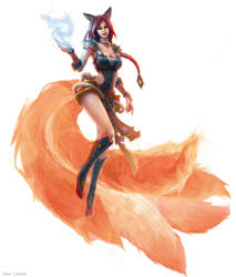 League of Legends - Foxfire Ahri by EwaLabak