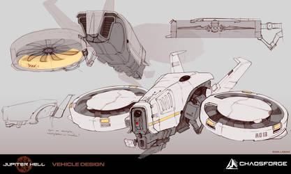 Jupiter Hell - Drone concept art by EwaLabak