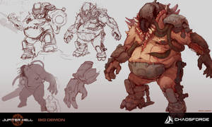 Jupiter Hell - Big demon concept art by EwaLabak