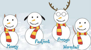 Marauder Snowmen by hanazuke