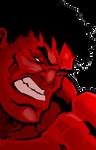 Red Hulk by cmkasmar