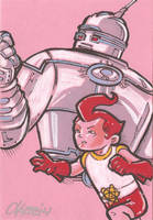 Big Guy and Rusty the Boy Robot by cmkasmar