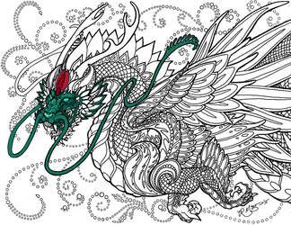Jade Dragon - Work In Progress #1 by Dubstepmau5