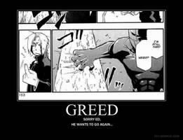 Greed Demotivationalized by sasori72