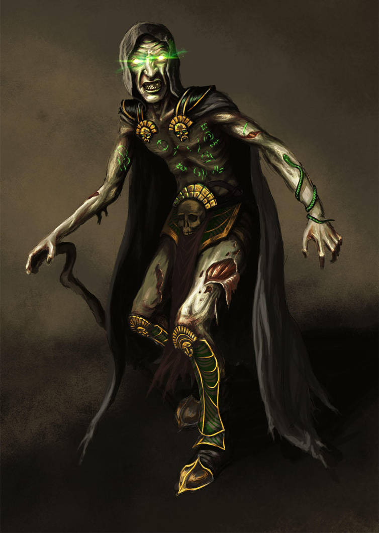 Mad necromancer by KardisArt