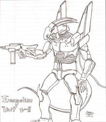 Evangelion Unit Nu-II by nerdsloth