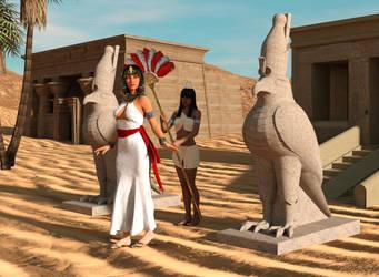 Nefertari Horus Temple by dazinbane