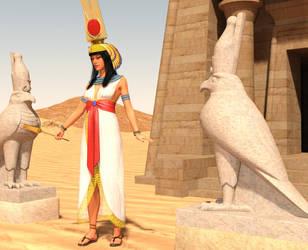 Nefertari Horus 2 by dazinbane
