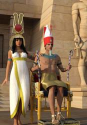 Shishak And Queen by dazinbane