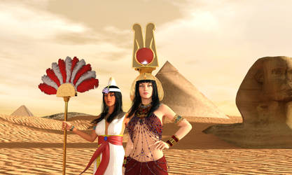 Cleopatra at Giza by dazinbane