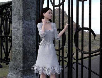 Girl At The Gate by dazinbane