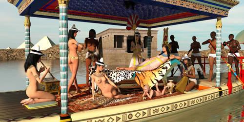 Nefertari's Barge by dazinbane