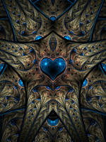 Blue Heart by SuicideBySafetyPin