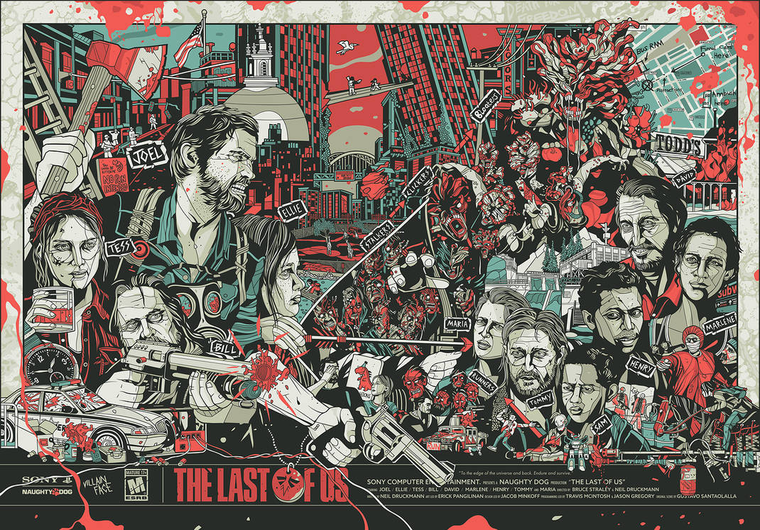 'The Last of Us' Poster (by VillainFace) by VillainFace