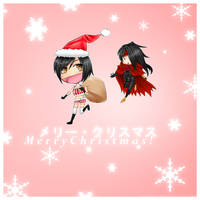Vincent and Yuffie - Merry Christmas by EverasianSkies