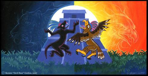 The Jaguar and the Eagle by tarkheki