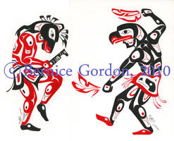 Horse and Eagle Dancers by tarkheki