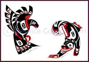 Eagle and Dog by tarkheki