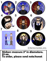 Agents of SHIELD PreOrder Stickers by tarkheki
