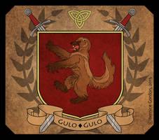 Heraldic Crest- Wolverine by tarkheki