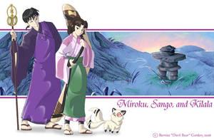 Miroku, Sango, Kilala by tarkheki