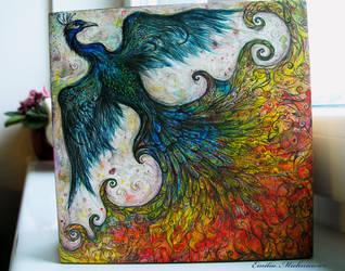 Rainbow bird. by Evidriell