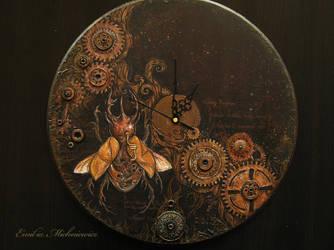 Steampunk clock by Evidriell