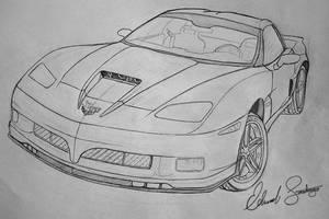 2009 Corvette Stingray Pencil by Dragonis0