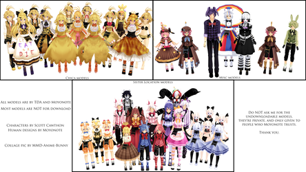 [MMD] Moyonote FnaF models collage by MMD-Anime-Bunny