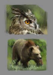 Training animals forest 001 by Zaelari