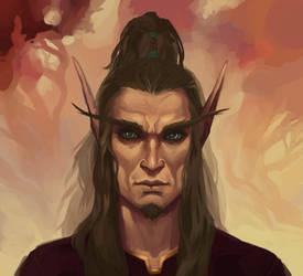 Blood elf portrait by Zaelari