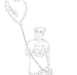 The Heart Balloon  by GypsyWarriors