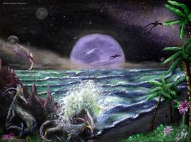 Alien sunrise by LuciferArcadia
