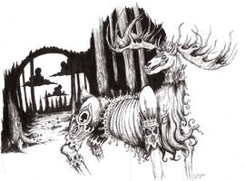 The Beast in the forest by chrisbonney