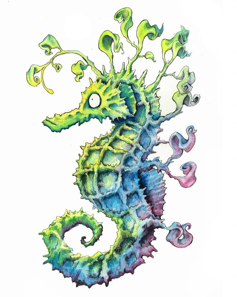 Glowing Seahorse by chrisbonney