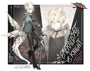 [ADOPT] Auction - Emerald knight [CLOSED] by Shikaama