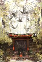Experimental environment art by Shikaama