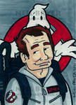 Ghostbusters Sketch Card Peter by WombatOne