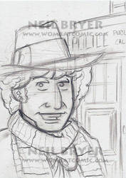 Doctor Who Sketch Cards WIP 4 by WombatOne