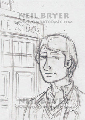 Doctor Who Sketch Cards WIP 5 by WombatOne