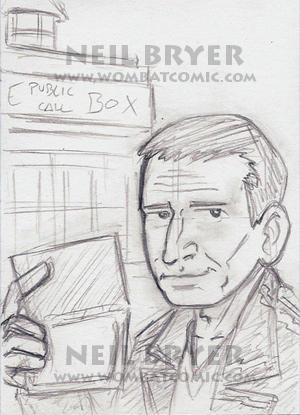 Doctor Who Sketch Cards WIP 9 by WombatOne
